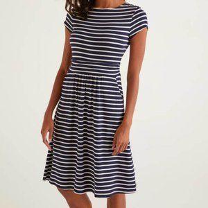 Boden Amelie Jersey Dress Loungewear Ruching 6